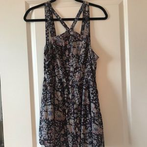 Purple floral romper from UO